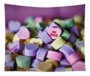 Conversation Hearts Tapestry