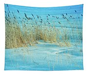 Cool Blue Blowing In The Wind Tapestry
