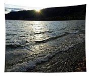 Cool Waters Sunset Tapestry