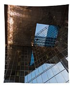 Copper Glass And Steel Geometry - Fabulous Modern Architecture In London U K Tapestry