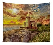 Coquille River Lighthouse 4 Tapestry