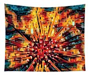 Corals Under The Sea Abstract Color Art Tapestry