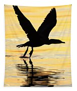 Cormorant Silhouette Tapestry
