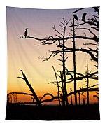 Cormorant Sunset Tapestry