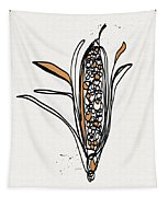 corn- contemporary art by Linda Woods Tapestry