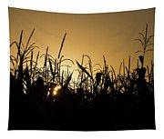 Corn Field Sunrise Tapestry