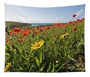 Corn Marigold And Poppies Tapestry