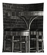 Corner Table - Black And White Tapestry