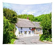 Cornish Thatched Cottage Tapestry