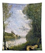 Corot: Cathedral, C1855-60 Tapestry