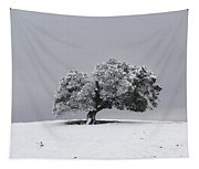 Corral Hollow Tree In Snow Tapestry