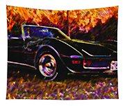 Corvette Beauty Tapestry