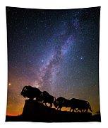 Cosmic Caprock Bison Tapestry