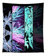 Cosmic Collage Mosaic Left Side Flipped Tapestry by Shawn Dall