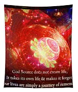 Cosmic Inspiration God Source 2 Tapestry by Shawn Dall