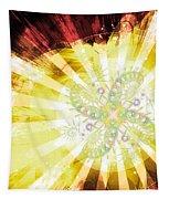 Cosmic Solar Flower Fern Flare 2 Tapestry by Shawn Dall