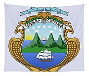 Costa Rica Coat Of Arms Tapestry