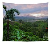 Costa Rica Volcano View Tapestry