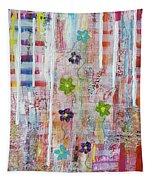 Cottage Flower Garden Tapestry