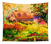 Cottage In Maine Tapestry