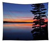Cottage Sunset Tapestry