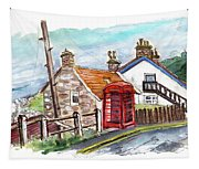 Cottages In Runswick Bay Tapestry