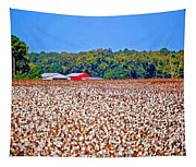 Cotton And The Red Barn Tapestry