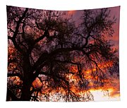 Cottonwood Sunset Silhouette Tapestry