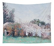Country Cottage In Spring Time Tapestry