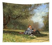 Country Couple Tapestry