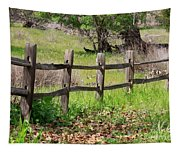 Country Fence Tapestry