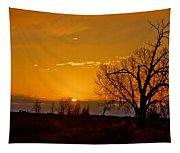 Country Golden Sunrise Tapestry