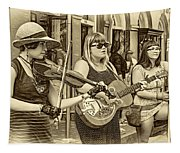 Country In The French Quarter 3 Sepia Tapestry