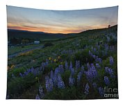 Country Meadow Sunset Tapestry