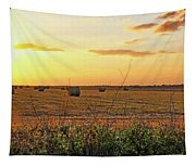 Country Pasture At Sunset Tapestry