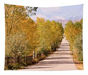 Country Road Autumn Fall Foliage View Of The Twin Peaks Tapestry