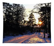 Country Road Sunset Tapestry