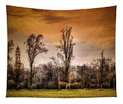 Countryscape With Bell Tower Tapestry