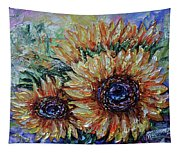 Countryside Sunflowers Tapestry