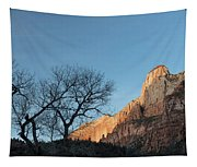 Court Of The Patriarchs Sunrise Zion National Park Tapestry