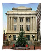 Courthouse At Christmas Tapestry