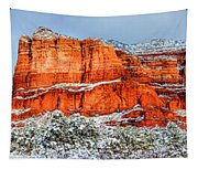 Courthouse Butte And Bell Rock Under Snow Tapestry