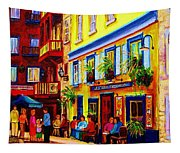 Courtyard Cafes Tapestry
