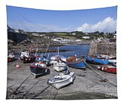Coverack Harbour Cornwall Tapestry
