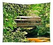 Covered Bridge At Lanterman's Mill Tapestry