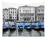 Covered Gondolas In Blue Tapestry