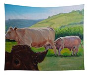Cow And Calf Painting Tapestry
