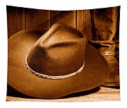 Cowboy Hat - Sepia Tapestry