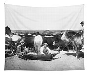 Cowboys Branding Cattle C. 1900 Tapestry