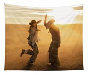Cowgirl Dance Tapestry